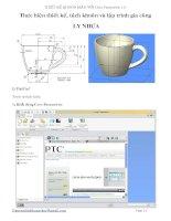 Thiết kế khuôn mẫu với creo parametric 1 0 (creo1 0)