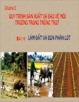 Giáo án bồi dưỡng Công nghệ 7 bài 15 Làm đất và bón phân lót