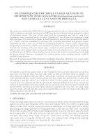 SO SÁNH BI ỆN PHÁP KỸ THUẬT VÀ HI ỆU QUẢ KINH TẾ MÔ HÌNH NUÔI TÔM CÀNG XANH (Macrobrachium rosenbergii ) XEN CANH VÀ LUÂN CANH VỚI TRỒNG LÚA docx