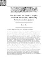 agrippa - three books of occult philosophy -book 3