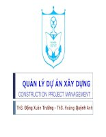 Bài giảng Quản lý dự án xây dựng: Chương 5 - ThS. Đặng Xuân Trường - ThS. Hoàng Quỳnh Anh