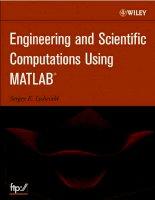 engineering and scientific computations using matlab - sergey e. lyshevski