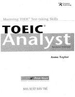 Giáo trình Toeic Analyst Second Edition hay