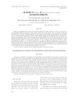 THỨC ĂN CHẾ BIẾN CHO CÁ HỒI VÂN (Oncorhynchus mykiss) GIAI ĐOẠN ĐẦU THƯƠNG PHẨM docx
