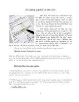 kỹ năng viết hồ sơ để thuyết phục nhà tuyển dụng