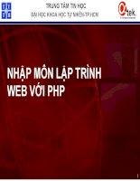 Bài giảng - giáo án: Nhập môn lập trình web với ngôn ngữ PHP bài 1 tổng quan về lập trình web bằng PHP