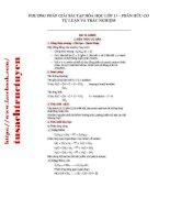 Phương pháp giải bài tập hóa học 11 - Phần hữu cơ