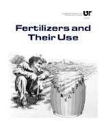 fertilizers and their use