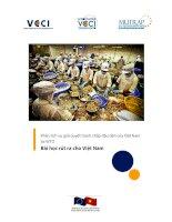 Phân tích vụ giải quyết tranh chấp đầu tiên của Việt Nam tại WTO Bài học rút ra cho Việt Nam pot