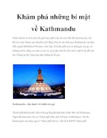 Khám phá những bí mật về Kathmandu pptx