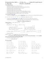 Đề cương ôn tập toán lớp 12 ôn thi đại học