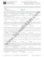 Đề thi thử lần 08 môn vật lý luyện thi ĐH pdf