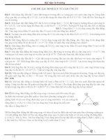 Bài tập từ trường ôn tập vật lý đại cương II