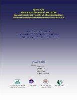 Sổ tay hướng dẫn đánh giá tác động môi trường cho đồ án quy hoạch đô thị pdf