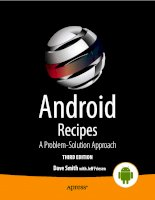 android recipes a problem-solution approach, 3 edition