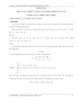 Giáo trình lý thuyết xác suất và thống kê toán chương 2: Biến ngẫu nhiên và quy luật phân phối xác suất