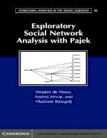 Exploratory Network Analysis with Pajek