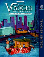 voyages in english - writing and grammar - teacher book 4