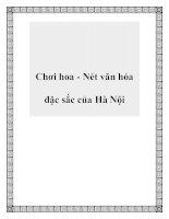 Chơi hoa - Nét văn hóa đặc sắc của Hà Nội pot