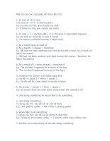 NGÂN HÀNG CÁC CẤU TRÚC TIẾNG ANH THÔNG DỤNG (Part 11-Sưu tầm)
