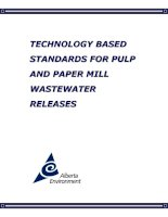 TECHNOLOGY BASED STANDARDS FOR PULP AND PAPER MILL WASTEWATER RELEASES..TECHNOLOGY BASED STANDARDS FOR PULP AND PAPER MILL WASTEWATER RELEASES pdf