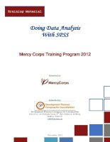 SPSS training material