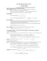 34 đề và đáp án đi kèm - ôn thi toán đại học