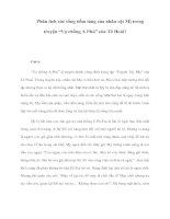 """Phân tích sức sống tiềm tàng của nhân vật Mị trong truyện """"Vợ chồng A Phủ"""" của Tô Hoài? pdf"""
