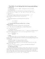 Tìm hiểu về các đường bậc hai trong mặt phẳng
