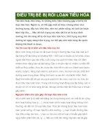 ĐIỀU TRỊ BÉ BỊ RỐI LOẠN TIÊU HÓA pdf