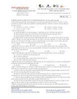 ĐỀ THI THỬ ĐẠI HỌC LẦN 2 NĂM 2012-2013 Môn: Sinh học; Khối B potx