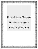 10 tác phẩm về Margaret Thatcher – từ nghiêm trang tới phóng túng pdf