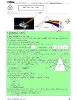Luyện thi đại học môn vật lý chuyên đề tán sắc ánh sáng