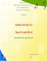 PHƯƠNG PHÁP PHÂN TÍCH Tổng số VI KhuẩN HIẾU KHÍ pdf