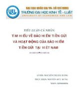 Tìm hiểu về bảo hiểm tiền gửi và hoạt động của bảo hiểm tiền gửi tại Việt Nam