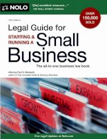 legal guide for starting and running a small business 12th (2011)