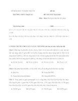 SỞ GIÁO DỤC VÀ ĐÀO TẠO TN TRƯỜNG THPT TRẠI CAU ĐỀ 68 docx
