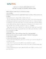Đáp án đề thi thử môn văn năm 2014 tháng 1 của Viettel Study