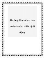 Hướng dẫn tối ưu hóa website cho thiết bị di động. pdf