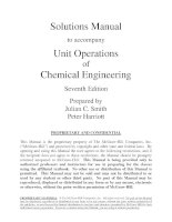 unit operation of chemical engineering 7th ed, solutions manual