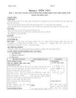 Giáo án môn Vật lý lớp 9