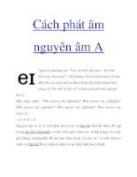 Cách phát âm nguyên âm A doc
