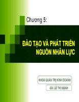 Bài giảng Quản trị nguồn nhân lực - Chương Đào tạo và Phát triển nguồn nhân lực