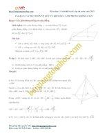 Các bài toán về khoảng cách và góc hình học không gian trọng tâm trong đề thi đh