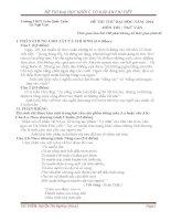 Đề thi thử 3 môn khối C Trường Trần Quốc Tuấn Phú Yên có đáp án