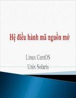 Hệ điều hành mã nguồn mở CentOS - Solaris