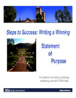 steps to success writing a winning statement of purpose for students in the science technology engineering and math  fiel