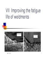 vii improving the fatigue life of weldments