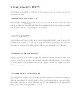 9 bí kíp cho kì thi IELTS