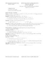 đề thi học kì môn toán lớp 10 tỉnh đồng tháp (đề 17)